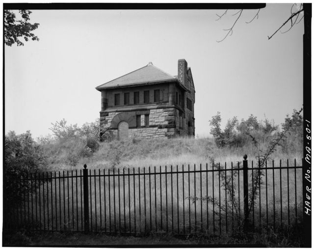 Boston Water Works, Fisher Hill Reservoir & Gatehouse, Fisher Avenue, Brookline, Norfolk County, MA