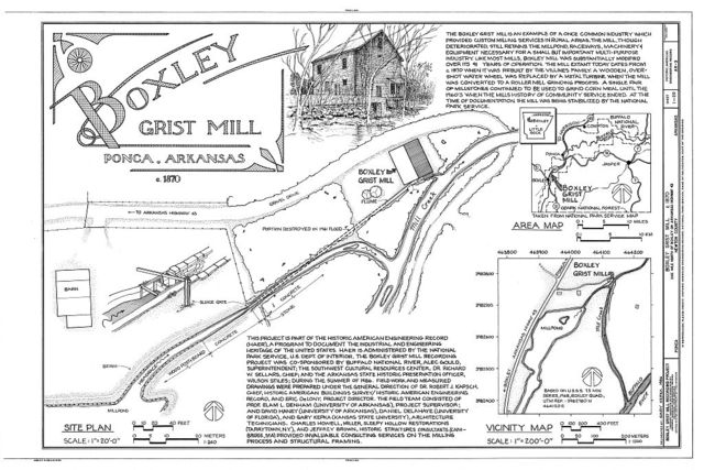 Ponca Arkansas Map.Boxley Grist Mill Boxley Vicinity On State Route 43 Buffalo