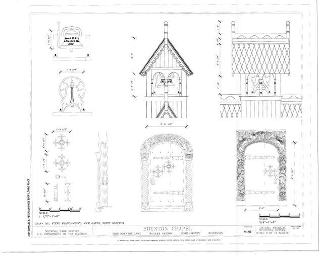 Boynton Chapel, 7590 Boynton Lane, Baileys Harbor, Door County, WI