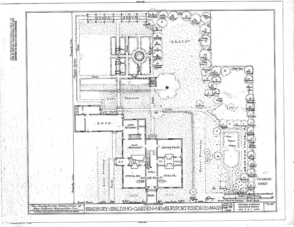 Bradbury-Spalding House & Garden, 28 Green Street, Newburyport, Essex County, MA