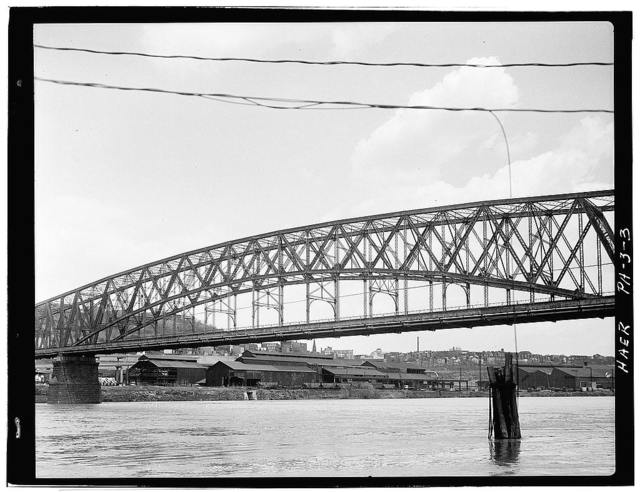Brady Street Bridge, Spanning Monongahela River at South Twenty-second Street, Pittsburgh, Allegheny County, PA