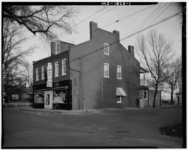 Brick Store & Residence, 100-1-2 Rue St. Louis at Jefferson, Florissant, St. Louis County, MO