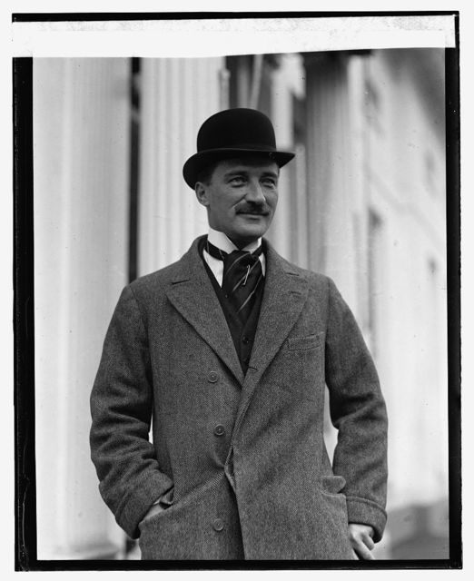 Brig. Gen. E.L. Speare of Great Britain at White House 2/6/25