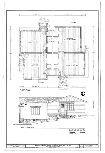 Bright Angel Lodge, Cabin No. 6179-6182, Grand Canyon Village, South Rim, Grand Canyon, Coconino County, AZ