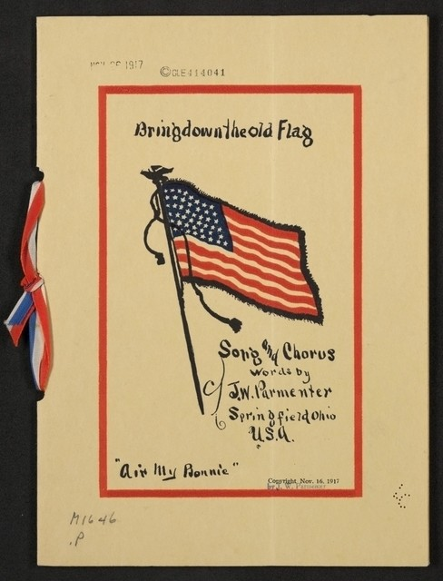 Bring down the old flag song and chorus
