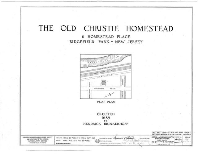 Brinkerhoff-Christie-Paulison Homestead, 8 Homestead Place, Ridgefield Park, Bergen County, NJ
