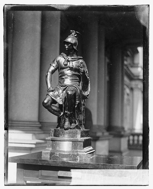 [Bronze statue presented to Secretary of Navy Josephus Daniels by French Ambassador Jean Jusserand, for the U.S.S. Seattle which escorted troop-ships to France]