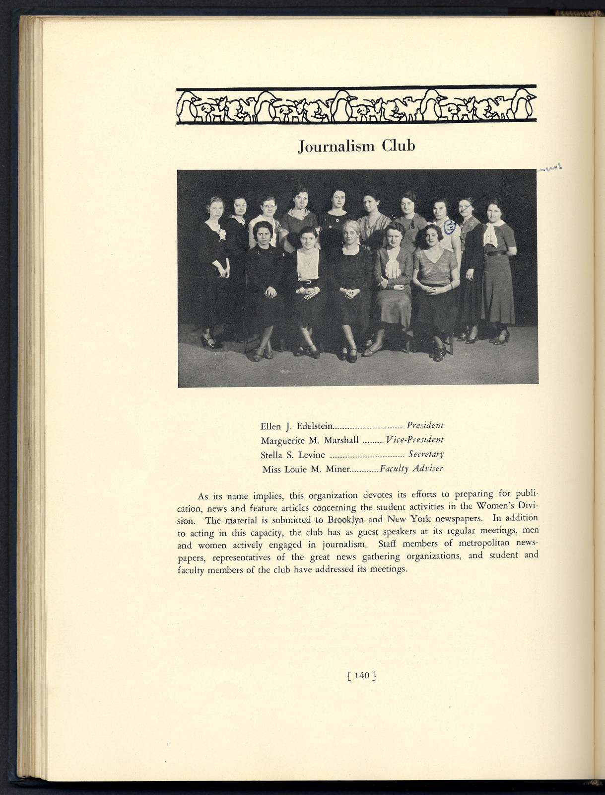 Brooklyn College Yearbook, 1933 [selected pages that reference Sylvia Fine]