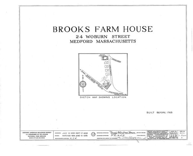 Brooks Farmhouse, 24 Woburn Street, West Medford, Middlesex County, MA