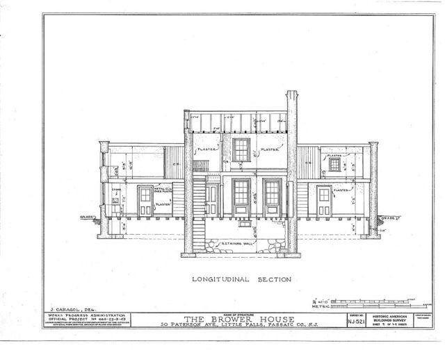 Brower House, 50 Paterson Avenue, Little Falls, Passaic County, NJ