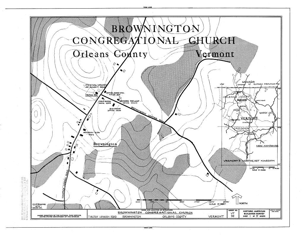 Brownington Congregational Church, Timothy Hinman Road, Brownington Village, Orleans County, VT