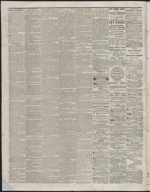 Buffalo Commerical Advertiser, [newspaper]. April 24, 1865.