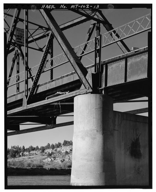 Bundy Bridge, Spanning Yellowstone River at Bundy Road, Pompeys Pillar, Yellowstone County, MT