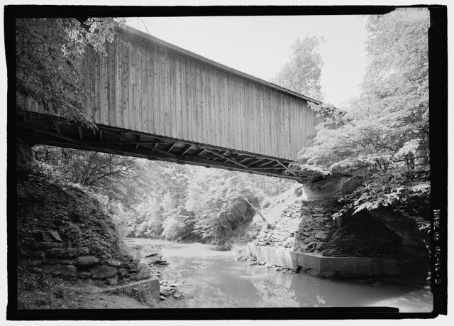 Bunker Hill Bridge, Spanning Lyle Creek, bypassed section of Island Ford Road, Claremont, Catawba County, NC