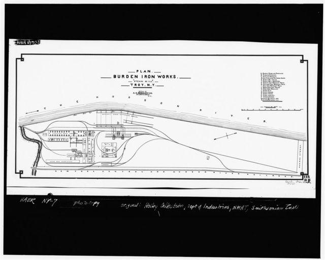 Burden Iron Works, Lower (Steam) Works, Hudson River, Wynants Kill Vicinity, Troy, Rensselaer County, NY