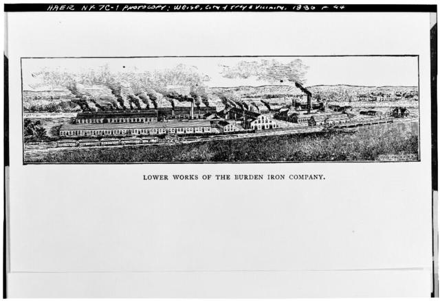 Burden Iron Works, Lower (Steam) Works, Hudson River, Wynants Kill Vicinity, Troy, Rensselaer County, NY