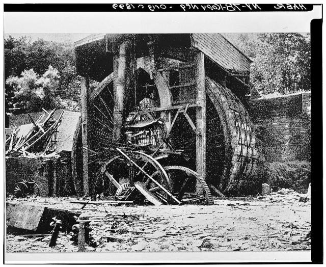 Burden Iron Works, Water Wheel, U.S. Route 4, Troy, Rensselaer County, NY