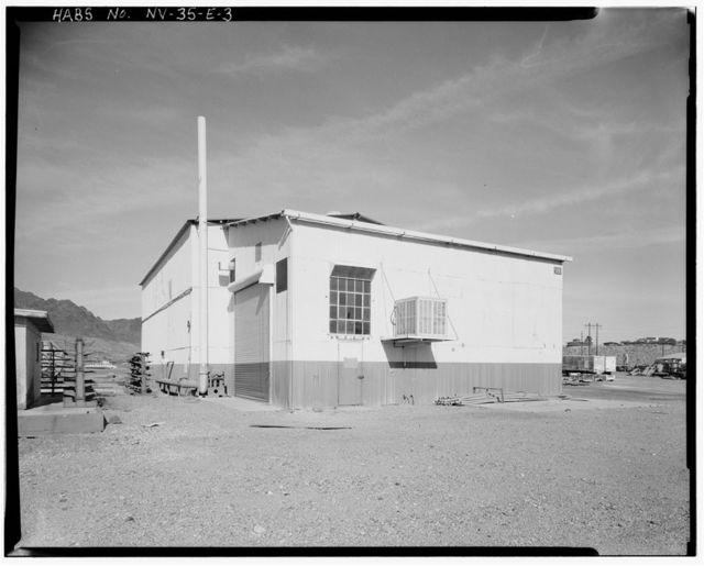 Bureau of Mines Boulder City Experimental Station, Electrolytic Manganese Building, Date Street north of U.S. Highway 93, Boulder City, Clark County, NV
