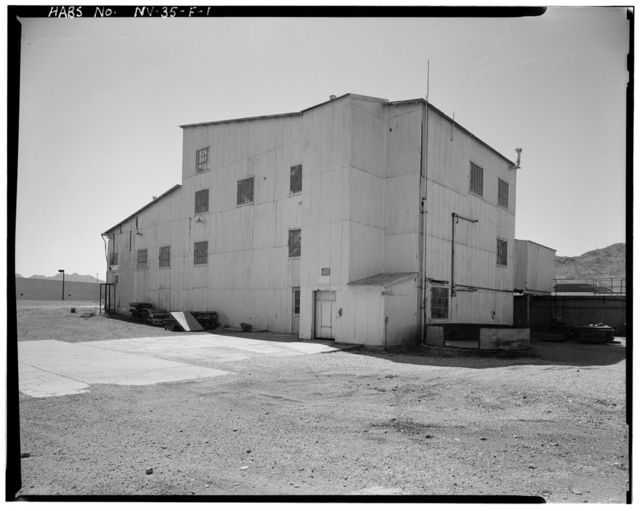 Bureau of Mines Boulder City Experimental Station, Ore Dressing Pilot Plant, Date Street north of U.S. Highway 93, Boulder City, Clark County, NV