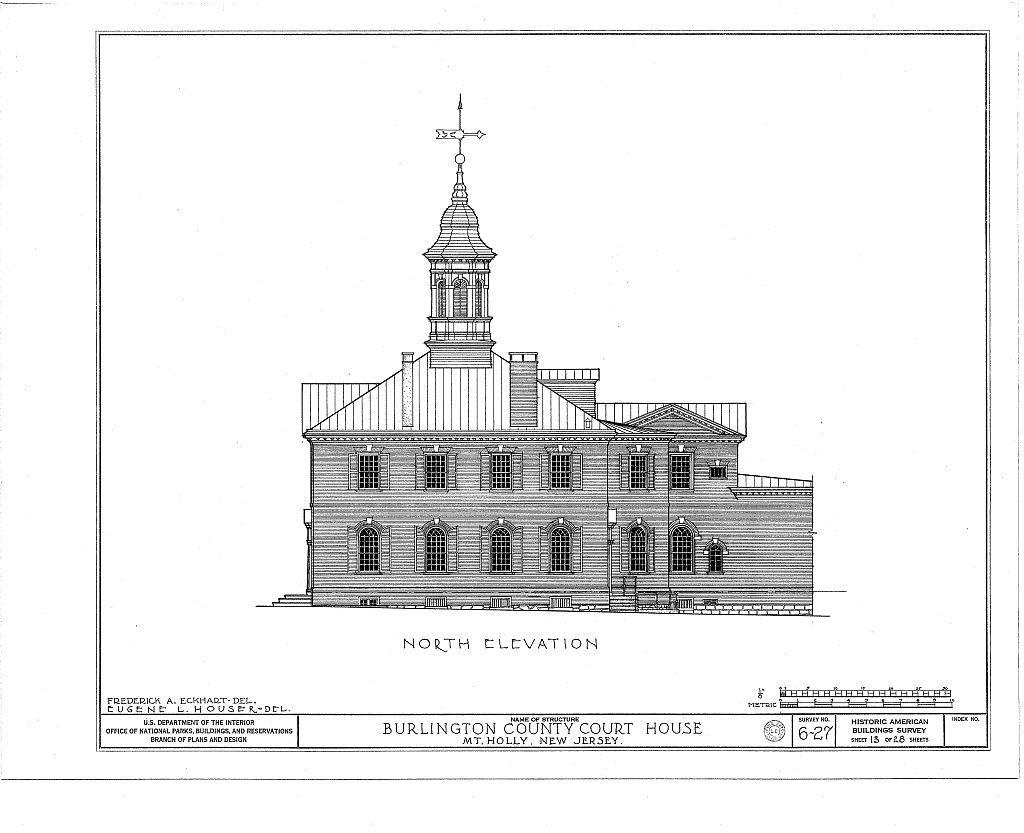 Burlington County Courthouse, High Street, Mount Holly, Burlington County, NJ