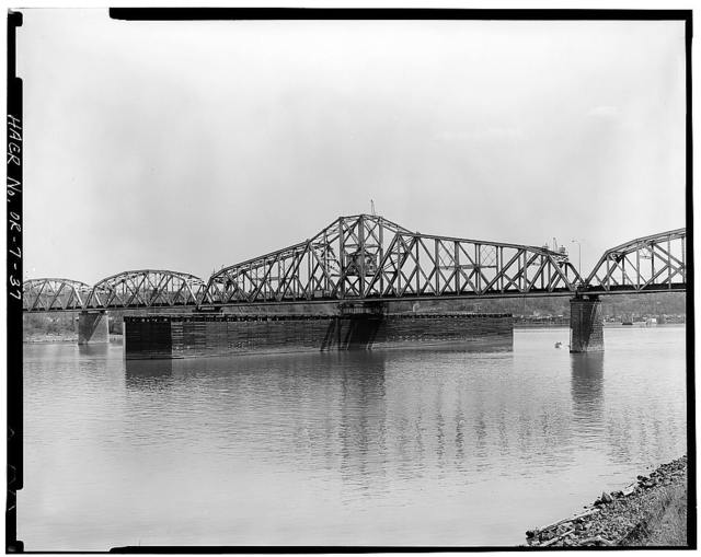 Burlington Northern Railroad Bridge, Spanning Willamette River at River Mile 6.9, Portland, Multnomah County, OR