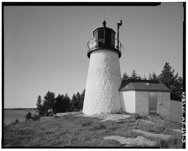 Burnt Island Light Station, Burnt Island, west side of entrance to Boothbay Harbor, Pine Cliff, Lincoln County, ME