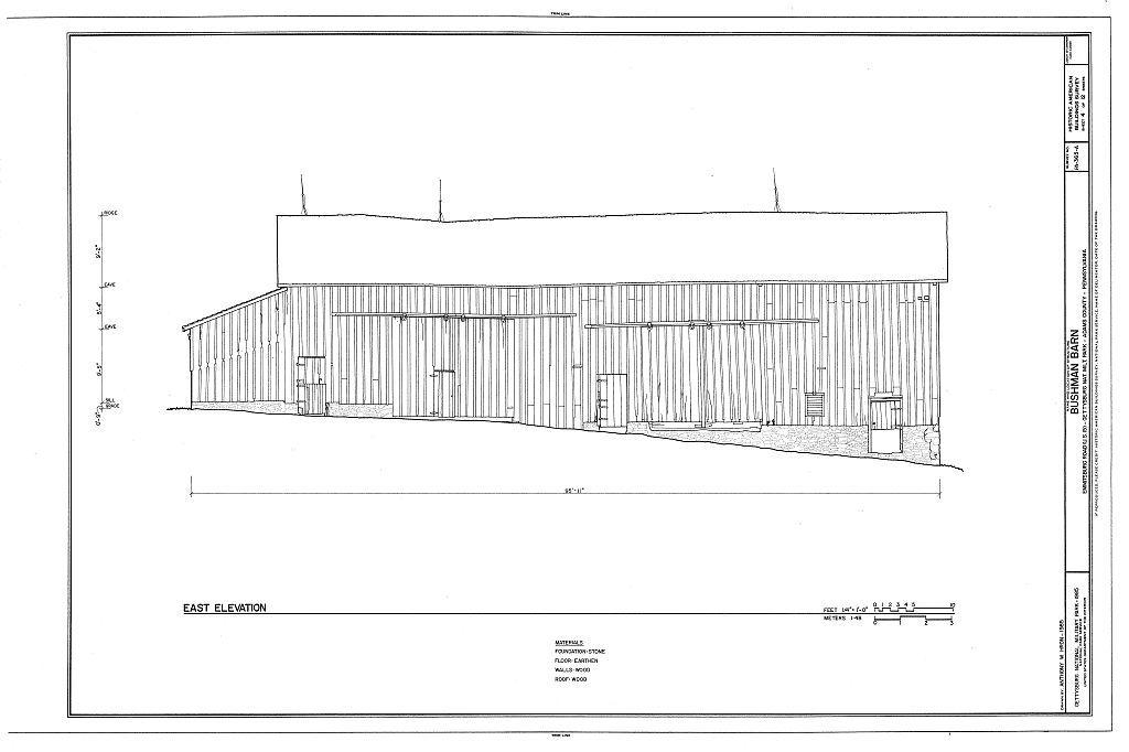Bushman Barn, Business U.S. 15, Emmitsburg Road, Gettysburg, Adams County, PA