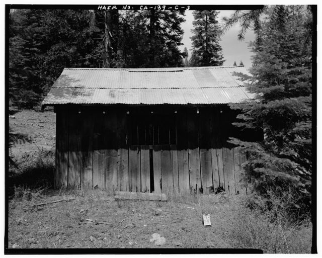 Butt Valley Dam, Gate Tender's Shed, Butt Valley Reservoir Road, Caribou, Plumas County, CA