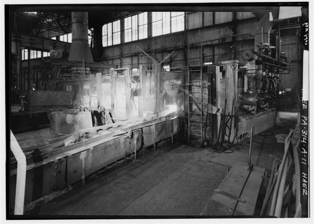 """Cambria Iron Company, Gautier Works, 12"""" Mill, Clinton Street & Little Conemaugh River, Johnstown, Cambria County, PA"""