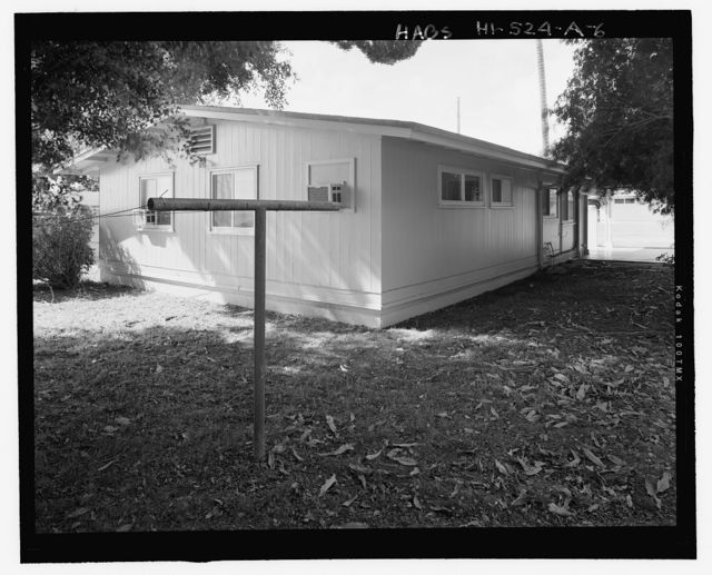 Camp H.M. Smith and Navy Public Works Center Manana Title VII (Capehart) Housing, U-Shaped Two-Bedroom Duplex Type 1, Acacia Road, Birch Circle, and Cedar Drive, Pearl City, Honolulu County, HI