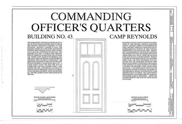 Camp Reynolds, Commanding Officer's Quarters, Angel Island State Park, Angel Island, Marin County, CA