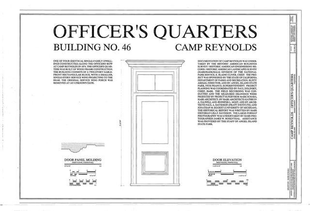 Camp Reynolds, Officer's Quarters, Angel Island State Park, Angel Island, Marin County, CA