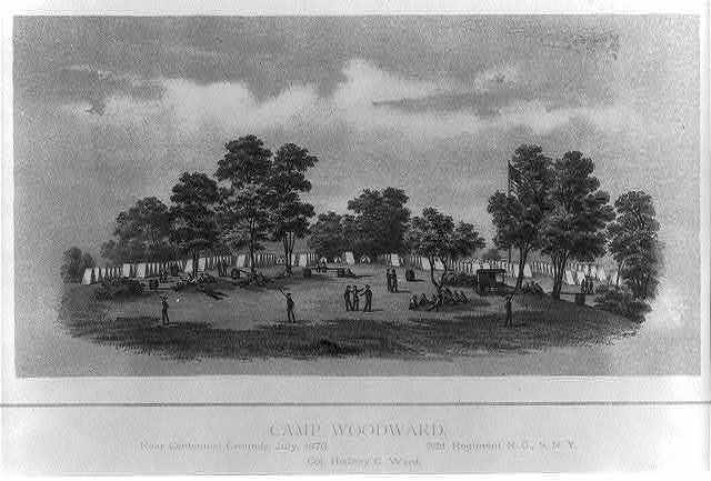 Camp Woodward, near Centennial Grounds, July, 1876