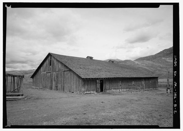 Cant Ranch, Barn, East side of State Route 19, North of U.S. 26, Dayville, Grant County, OR