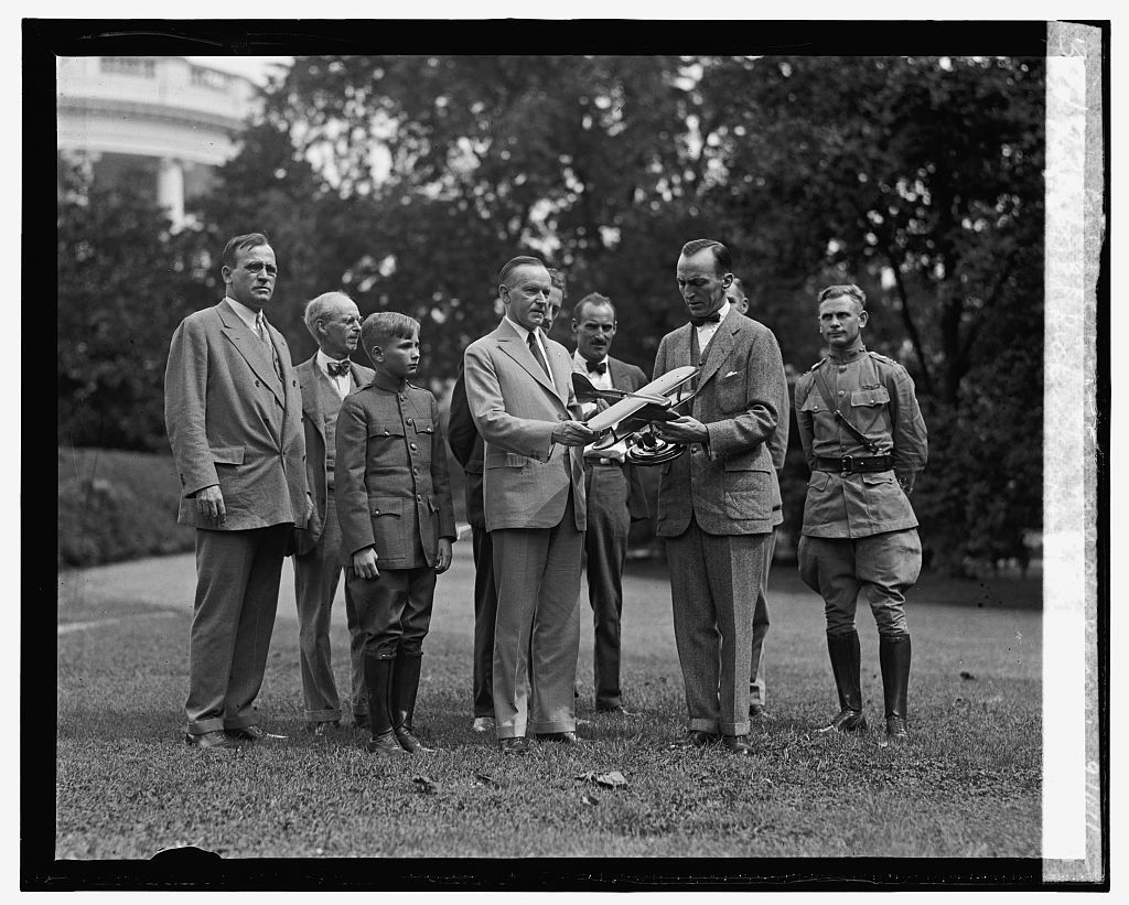 Capt. Ed. Rickenbacker & group invite Coolidge to attend N.Y. Air Races, 9/14/25