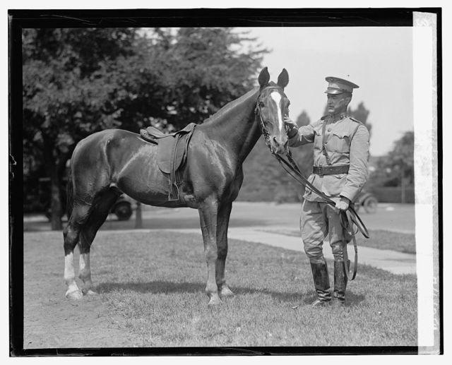"""Capt. J.H. Craige, U.S.M.C. and horse """"Sandy"""", 7/1/25"""
