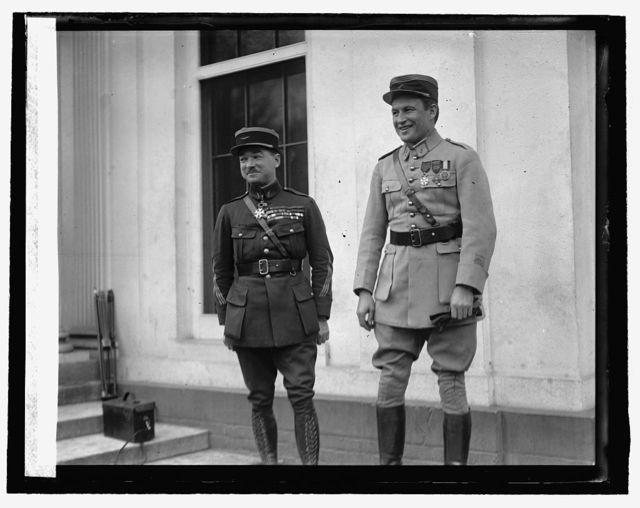 Capt. Rene Fonk & Maj. Georges Thenault at W.H., 10/29/25