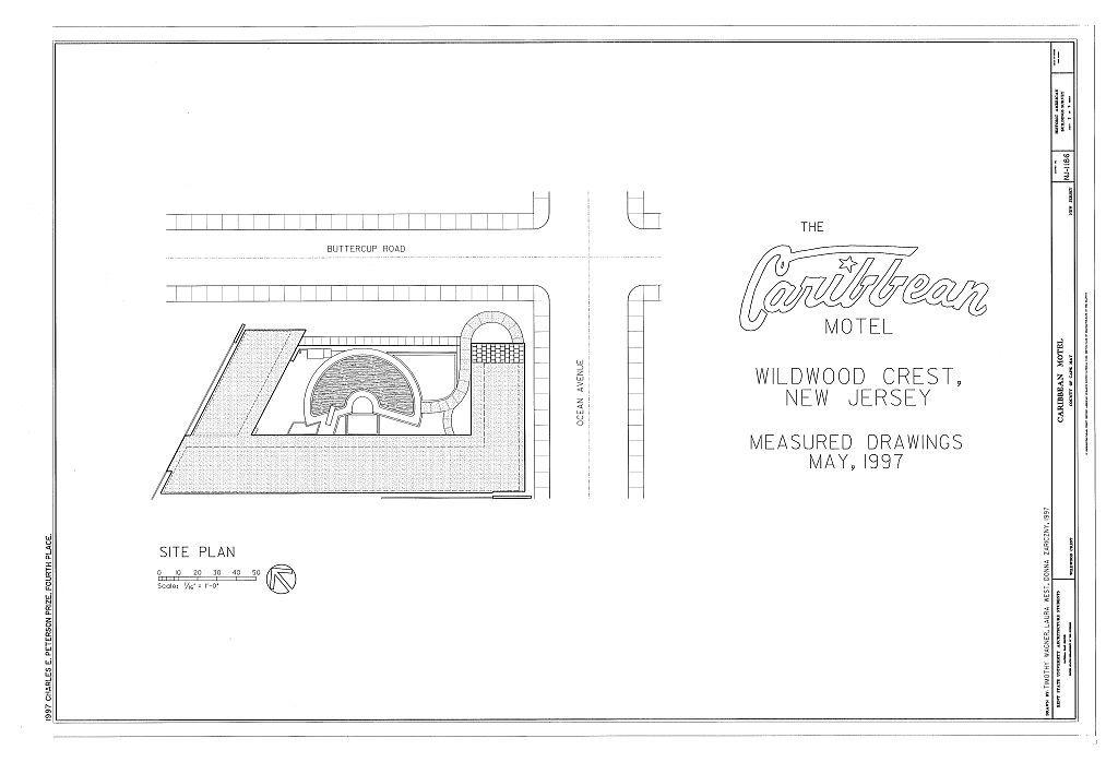 Caribbean Motel, 5600 Ocean Avenue, Wildwood Crest, Cape May County, NJ