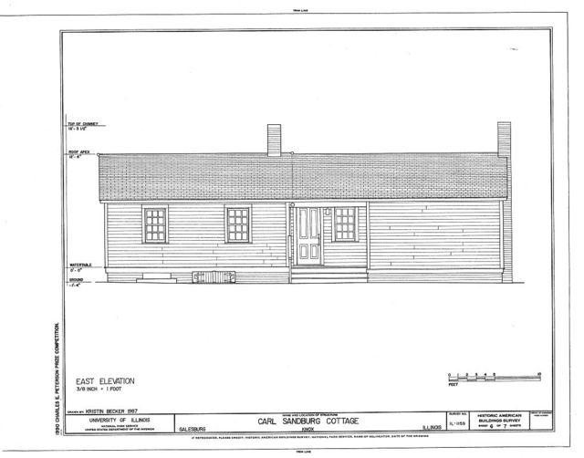Carl Sandburg Cottage, 331 East Third Street, Galesburg, Knox County, IL