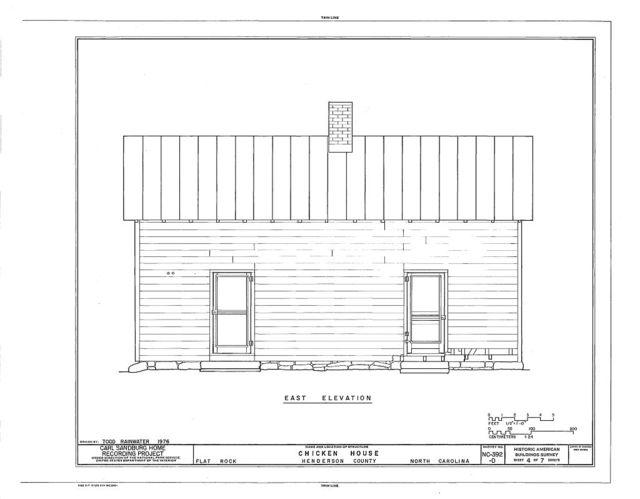Carl Sandburg Home, Chicken House, Flat Rock, Henderson County, NC