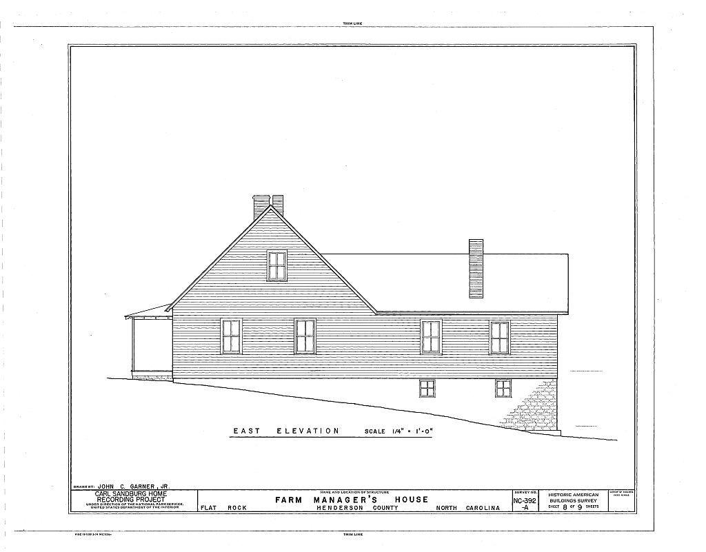 Carl Sandburg Home, Farm Manager's House, Flat Rock, Henderson County, NC