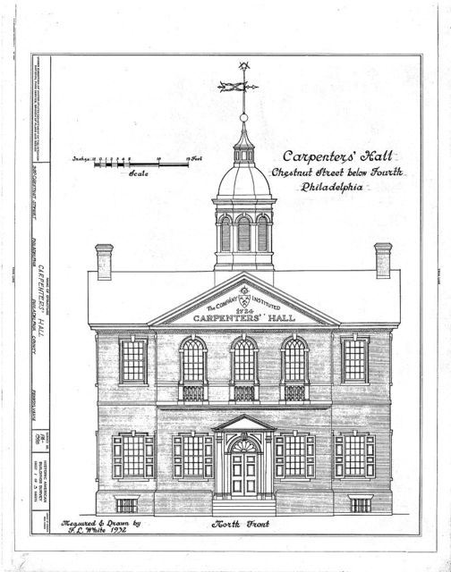 Carpenters' Company Hall, 320 Chestnut Street & Carpenters' Court, Philadelphia, Philadelphia County, PA