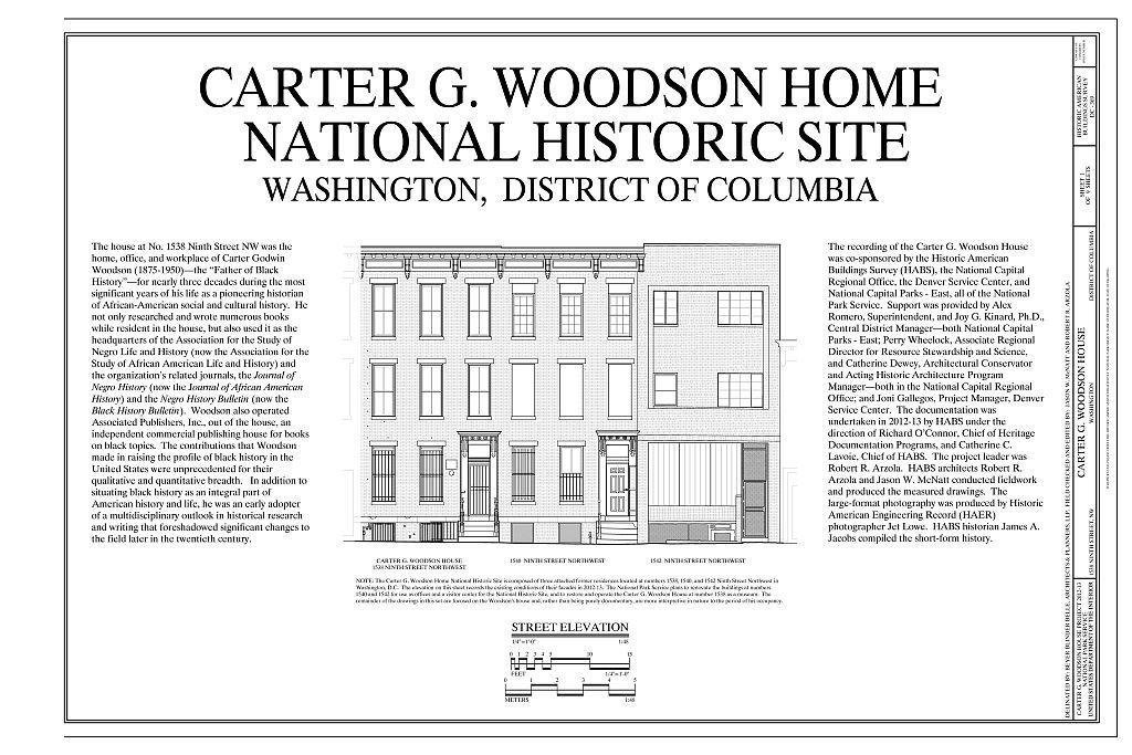 Carter G  Woodson House, 1538 Ninth Street Northwest, Washington