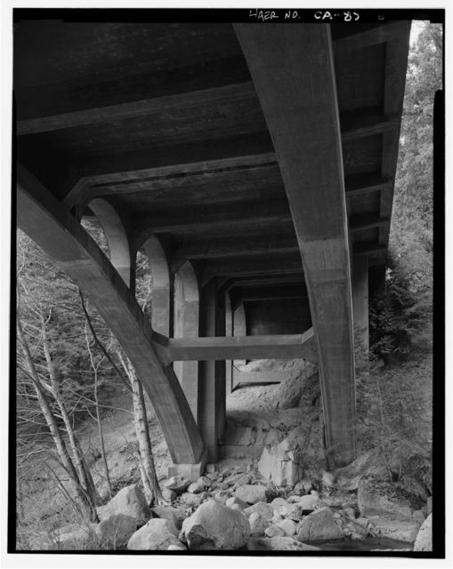 Cascade Creek Bridge, Spanning Cascade Creek on New Big Oak Flat Road, Yosemite Village, Mariposa County, CA