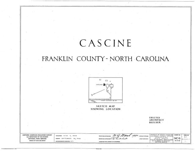 Cascine, State Route 1702, Louisburg, Franklin County, NC