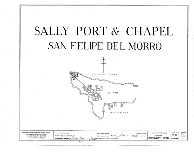 Castillo de San Felipe del Morro Sally Port & Chapel, Northwest end of San Juan Island, San Juan, San Juan Municipio, PR