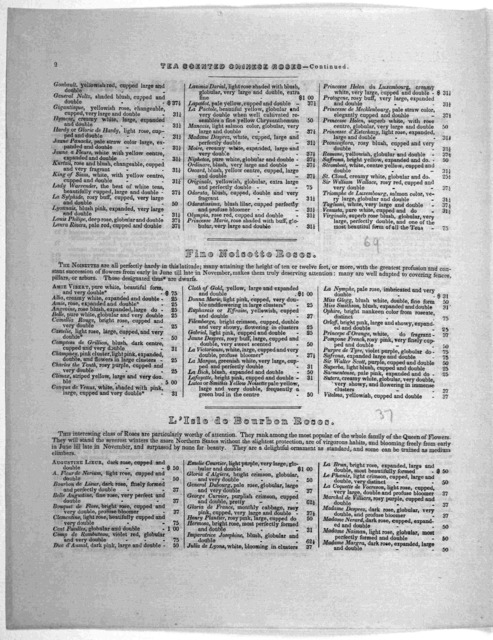 Catalogue of choice Chinese ever-blooming roses, for sale by Henry Douglas, florist at his green-house, corner of 15th and G Street, Washington City, D. C. [18--].