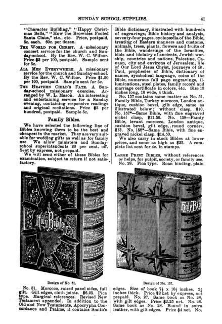 Catalogue of Sunday school supplies...