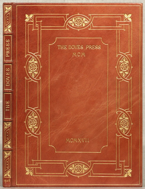 Catalogue raisonne of books printed & published at the Doves Press, 1900