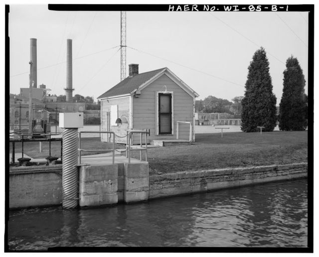 Cedars Lock & Dam, Lock Shelter, Approximately 35 feet Southwest of Upper Gate, Little Chute, Outagamie County, WI
